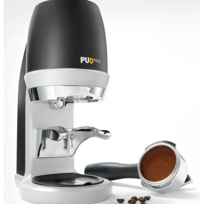 Puqpress automatic coffee tamper