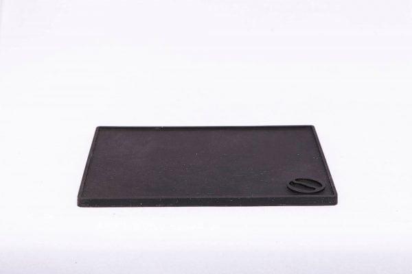 Tampermat vlak flat zwart